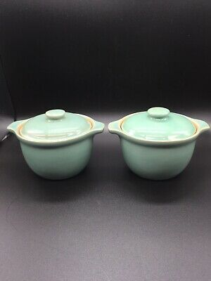 Vintage Denby Small Casserole Dish Or Soup Bowl With Lid & Handles Manor Green  • 22.99£