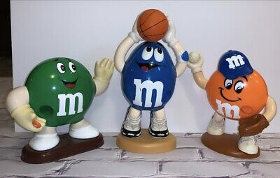 $54 • Buy Vintage M&M's Candy Dispensers Orange/Blue/Green Spotted Players Rare