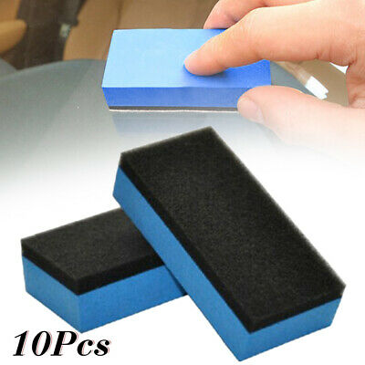 $9 • Buy 10pcs Car Ceramic Coating Sponge Glass Nano Wax Coat Applicator Polishing Pads