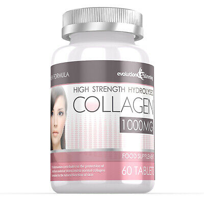 £9.99 • Buy Hydrolysed Collagen High Strength 1000mg For Hair Skin & Nails 60 Tablets