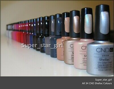 AU29.99 • Buy CND SHELLAC UV Gel Nail Powder Colour Polish 7.3ML
