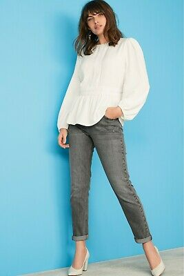 Next Women Grey Relaxed Skinny Jeans (350-913) • 12.99£