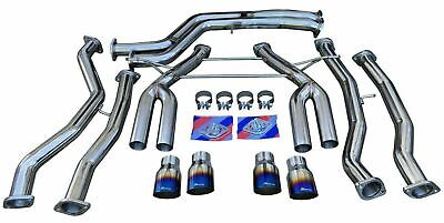 $1556.74 • Buy Full Exhaust System W/ Burnt Quad Tips TRACK USE For 2015+ M3 F80 M4 F82 F83 S55