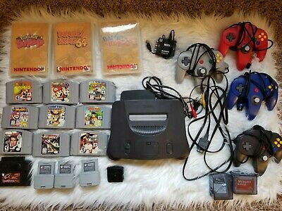 $ CDN1443.19 • Buy N64 Game Lot (007, Mario, Donkey Kong) W/ Nintendo 64 System, Controllers + More