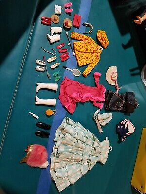 $ CDN198.16 • Buy Vintage 1960 Barbie By Mattel Clothes And Accessories Lot