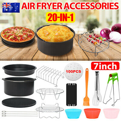 AU28.95 • Buy AU 20PCS 7'' Air Fryer Accessories Set Baking Barbecue Pan Fit Philips 3.2-6.8QT