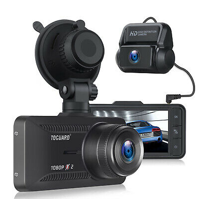 AU87.99 • Buy TOGUARD Both 1080P FHD Dual Lens Dash Cam Front And Rear Dual Car Camera Screen