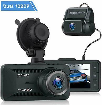 AU88.99 • Buy TOGUARD Both 1080P FHD Dual Lens Dash Cam Front And Rear Dual Car Camera Screen