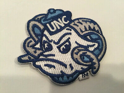 "$6.95 • Buy UNC UNIVERSITY OF NORTH CAROLINA TAR HEELS Embroidered Iron On Patch 2.5"" X 2.25"