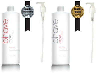 AU168.90 • Buy BHAVE RESCUE Intense Repair Shampoo/Conditioner DUO WITH PUMPS 1L FREE POST