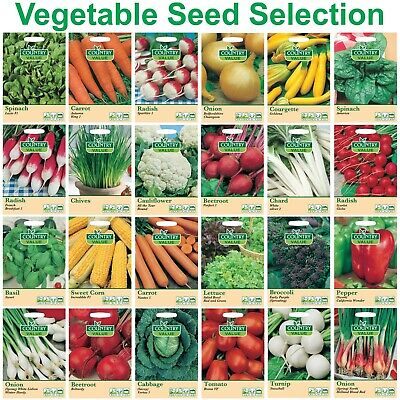 Vegetable Seeds & Herbs Country Value Mr Fothergill's FREE UK DELIVERY Veg Seed • 1.85£