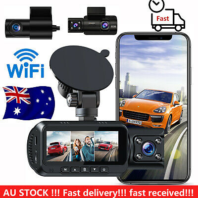AU185.30 • Buy WIFI 4K Dash Cam 3 Channel For Cars IR Night Vision GPS Ultra HD Front Recording