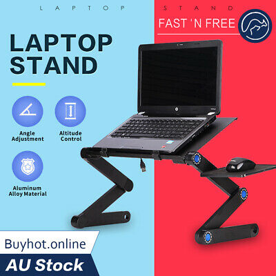 AU39.95 • Buy Portable Foldable Laptop Stand Notebook Adjustable Computer Table Desk Tray Pad