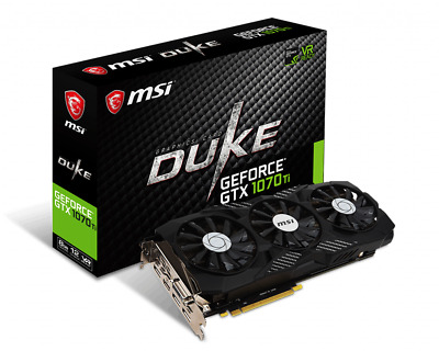 $ CDN426.07 • Buy MSI Gaming GeForce GTX 1070 Ti DUKE GDDR5 8GB TriFrozr 256-bit HDCP VR Ready GPU