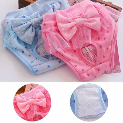 Pet Female Dog Physiological Sanitary Nappy Pant Diaper Shorts Underwear Comfort • 5.43£