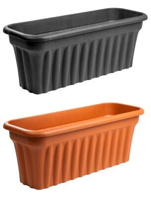 Large Extra Long Trough Plant Pot Plastic Planter Outdoor Garden Herb Flower Box • 20.99£