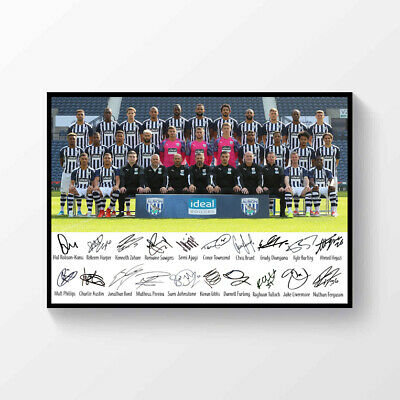 West Bromwich Albion 2019-2020 Team Printed Signed Poster A4  • 6.99£