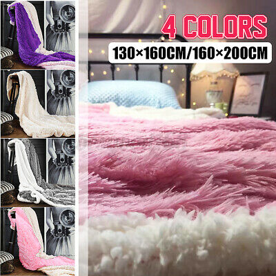 Large Warm Cuddly Throw Over Bed Sofa Blanket Single Double King Cozy Bedspread • 23.99£