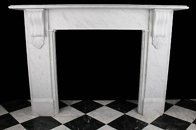 Large Fireplace Victorian Corbel 1870 Style White Carrara Marble + Slate Hearth • 1,410£