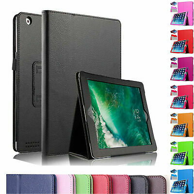 Leather Flip Stand Folio Case Plain Cover For Apple IPad Air 1,2,5th,6th Gen9.7  • 5.29£