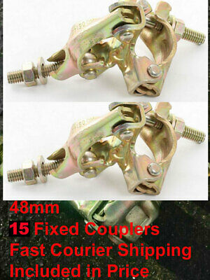 15 X PRESCO Scaffolding Scaffold Fittings FIXED DOUBLE Couplers Clamps FAST POST • 34.99£