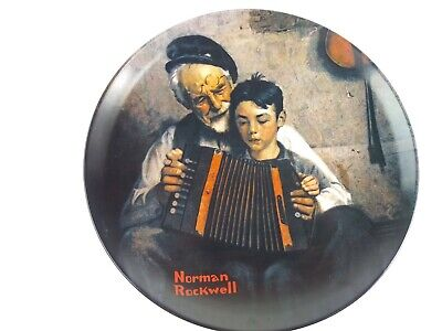 $ CDN37.48 • Buy 1981 Norman Rockwell The Music Maker  By Edwin Knowles Decorative Plate