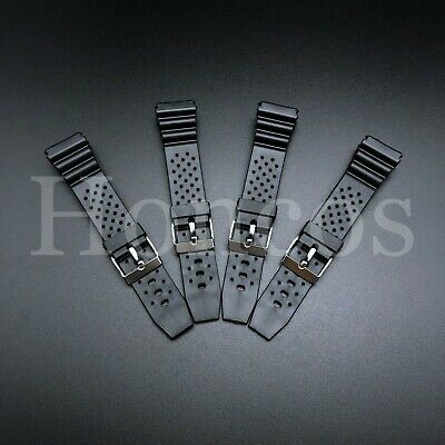 $ CDN12.16 • Buy 18 20 22 MM Black Silicone Rubber Watch Band Strap For Seiko Diver Hot SKX Soft