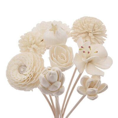 AU6.49 • Buy Artificial Flower Rattan Reed Diffuser Aroma No Fire Refill Stick Home Fragrance