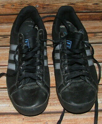 Adidas Court Star Leather And Canvas Black Training Shoes Size 10UK  • 12.99£