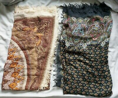 £7.50 • Buy Womens 2 Pack Black Brown Scarves Face Coverings Soft Floral 2 Pack