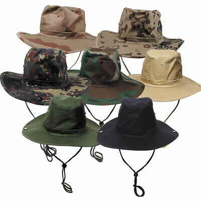 Australian Style Bush Hat With Chin Strap And Foldable Large Brim • 9.95£