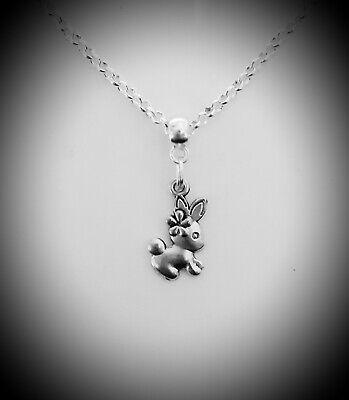 £5.99 • Buy Older Girls Childrens Jewellery Silver Plated Rabbit BUNNY Charm Necklace & Box