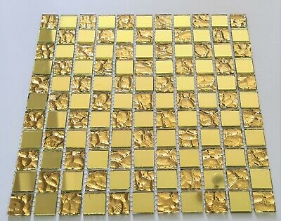 New Luxury Gold Colour Glass Mosaic Wall Tiles • 7£
