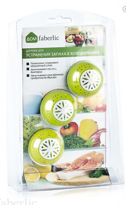 3 X FRESH FRIDGE BALLS FRESHENER ELIMINATES ODOUR REMOVES SMELLS • 6.49£
