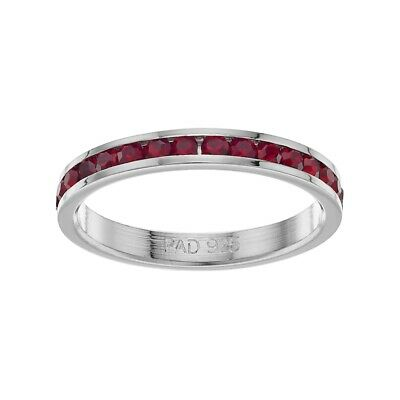 $ CDN30 • Buy Traditions Sterling Silver Crystal Birthstone Eternity Ring (Lot# 136)