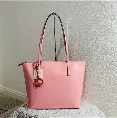 $ CDN142.04 • Buy Kate Spade Zina Large Tote Bright Carnation Pink Leather MSRP $329 NWT