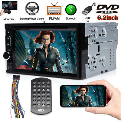 $117.89 • Buy Universal Double Din Car Stereo Radio DVD Player Bluetooth TV Mirrorlink For GPS