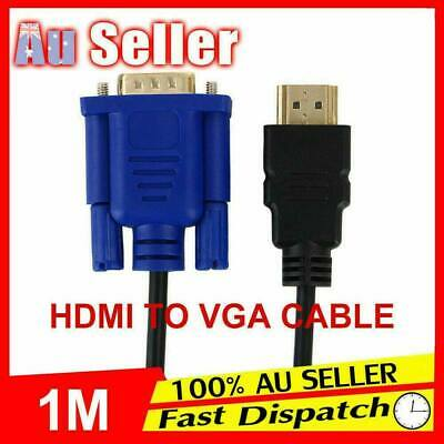 AU4.85 • Buy New HDMI HD Cable Adapter 15Pin Lead Laptop Monitor Male 1080P To VGA Converter