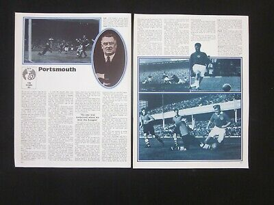 1972 Marshall Cavendish BOOK OF FOOTBALL - The Clubs: PORTSMOUTH • 2.50£