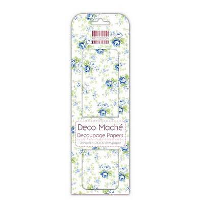£6.20 • Buy Job Lot Of 10 Packs Of First Edition Deco Mache Papers – Navy Rose - DM088 New