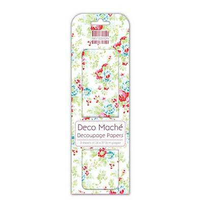 £6.20 • Buy Job Lot 10 Packs First Edition Deco Mache Papers – Red And Blue Flowers - DM092