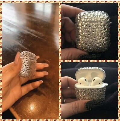$ CDN46.15 • Buy Bling Apple AirPod Case With Swarovski Rhinestones ANY COLOR Just Message Me