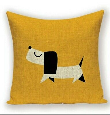 Cute Linen Dachshund Cushion Cover Large Sausage Dog Lover Novelty Gift • 12.99£