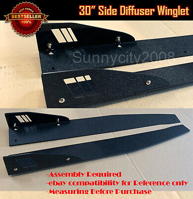 $59.88 • Buy 30  Textured Black Side Skirt Splitter Winglet Wing Canard Diffusers For Subaru.