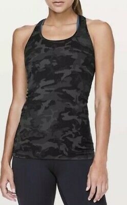 $ CDN45 • Buy Lululemon Size 4 Incognito Camo Cool Racer Back Nulu Racerback Tank Top