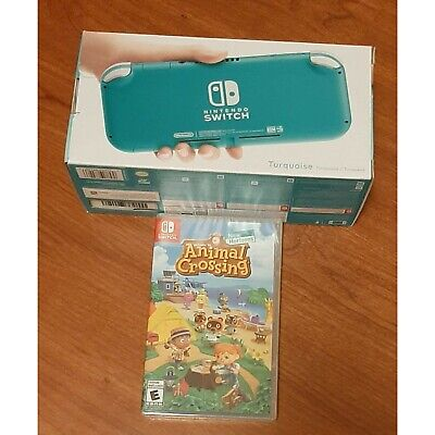 $ CDN390 • Buy NEW Nintendo Switch Lite Turquoise With Animal Crossing