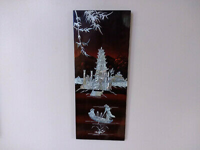 Wall Hanging Decoration Mother Of Pearl Oriental Decor Panel • 49.95£