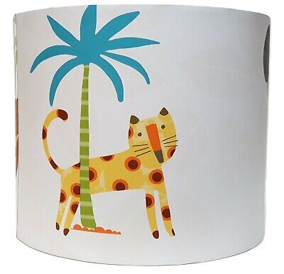 Jungle Animals Lampshade Light Shade Kids Bedroom Nursery Accessories Friends • 28.99£