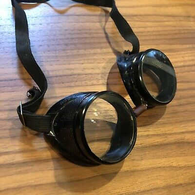 $115.50 • Buy Willson VINTAGE Safety Goggles Industrial Steampunk Motorcycle Glasses ANTIQUE