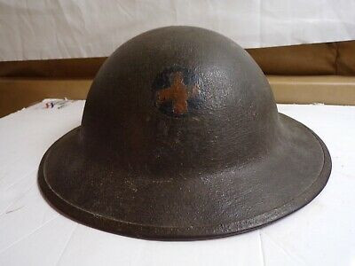 Ww-1 Doughboy Helmet With Period Applied 33rd Infantry Division Insignia-rare • 220.90£